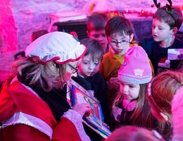 Winter Wonderland - Mrs. Claus reading book