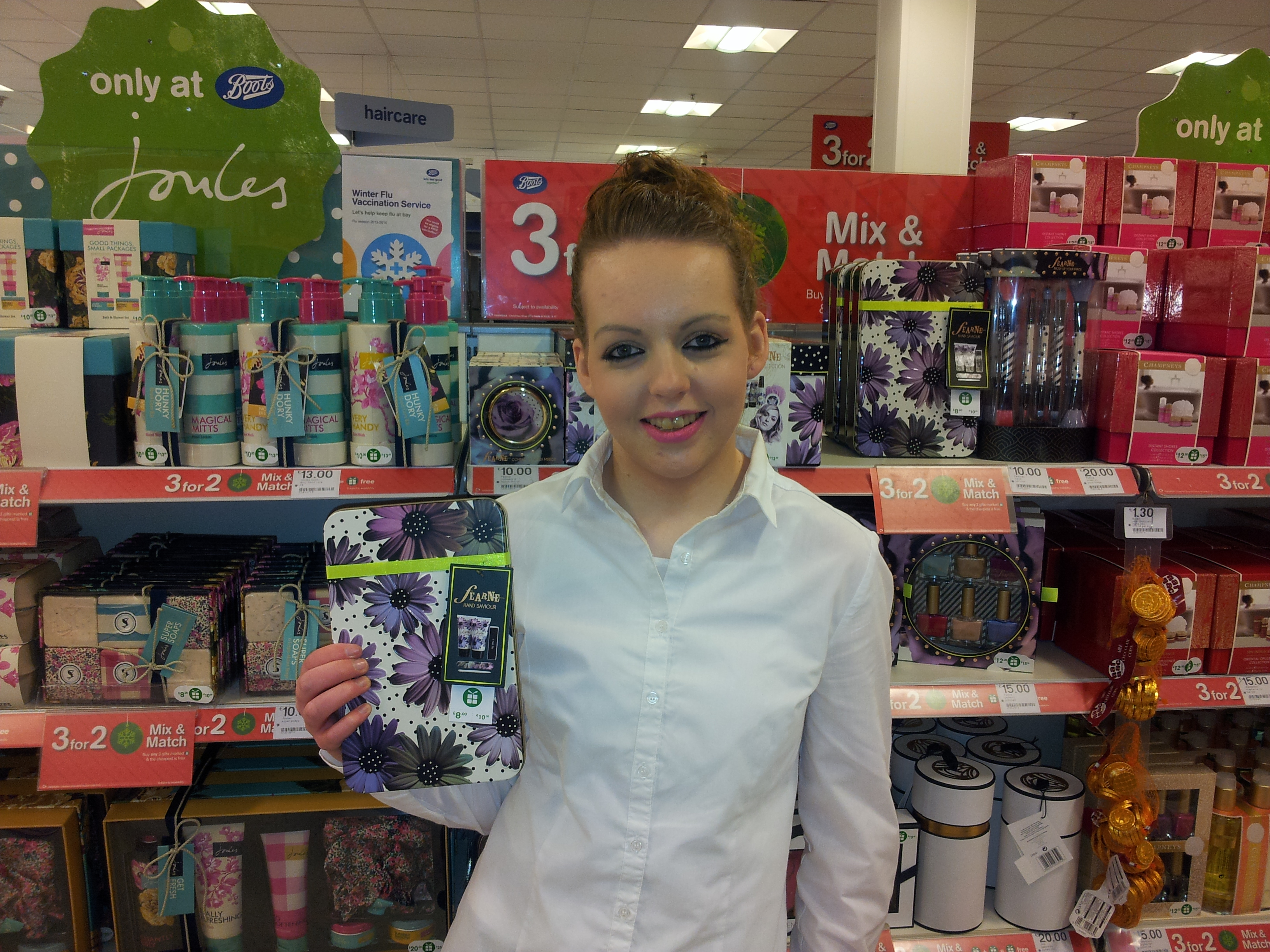 Aislinn enjoys work experience in Boots