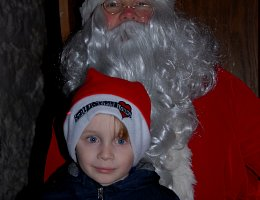 Winter Wonderland - boy with santa