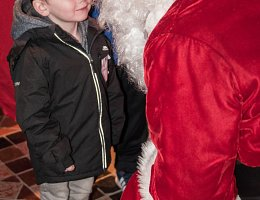Little boy meets Santa
