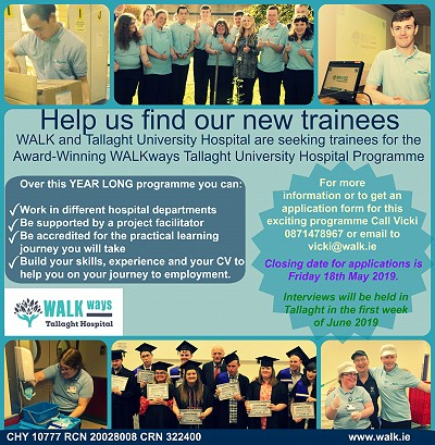Seeking trainees for WALKways Tallaght University Hospital Programme